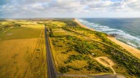 Panorama erial del  di Ð della linea costiera dell'oceano Immagine Stock Libera da Diritti