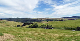 Panorama of the Erzgebirge Stock Photography