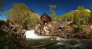 Panorama escénico de Crystal Mill en Colorado Imagen de archivo libre de regalías