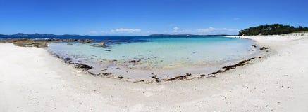 Panorama escénico de la playa de Winda Woppa Imagen de archivo