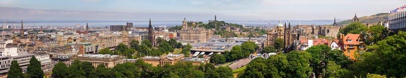 Panorama Escocia Reino Unido del paisaje urbano de Edimburgo Foto de archivo