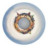 Panorama esférico de Gamla Stan, Estocolmo Imagen de archivo libre de regalías
