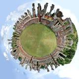 Panorama esférico del anfiteatro de Amiternum Imagen de archivo