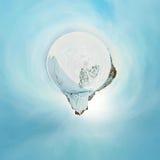 Panorama esférico 360 180 grados de chamán del cabo en la isla Imagen de archivo libre de regalías