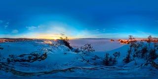 Panorama esférico 360 180 grados de chamán del cabo en la isla de Imagenes de archivo