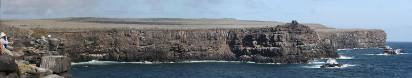 Panorama of Espanola coast line ( Galapagos ) Royalty Free Stock Images