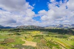 Panorama espectacular de Andalucía Imagenes de archivo
