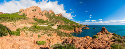 Panorama of Esterel Mountain, France Royalty Free Stock Photo