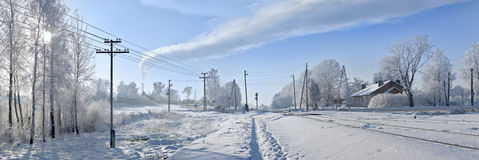 Panorama. A estrada de ferro Fotografia de Stock Royalty Free