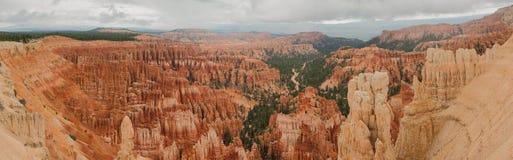 Panorama Etats-Unis occidentaux Utah d'amphithéâtre de Bryce Canyon Image libre de droits