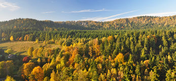 Panorama of European Countryside Stock Images