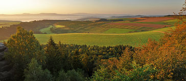 Panorama of European Countryside Stock Photography