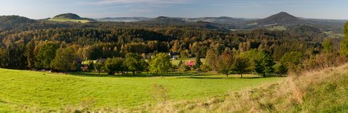 Panorama of European Countryside Royalty Free Stock Photography