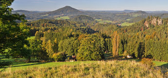Panorama of European Countryside Royalty Free Stock Photos
