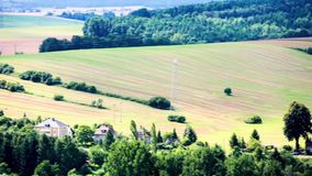 Panorama. Of the European landscape stock video footage