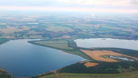 Panorama. Of the European landscape with a aerial shot stock video footage