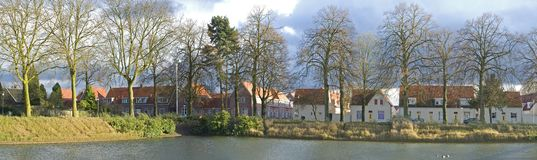 Panorama of an European residential area Stock Images