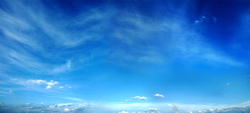Panorama of the evening sky. The evening sky of spring. A panorama from eight pictures Stock Photography
