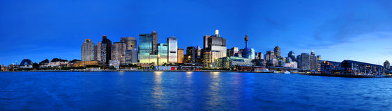 Panorama evening Sydney City Stock Photography