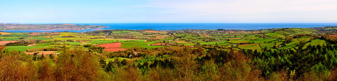 Panorama of the Exe estuary and surrounding countryside Royalty Free Stock Photography