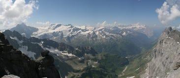 panorama för 2 alps Arkivfoto