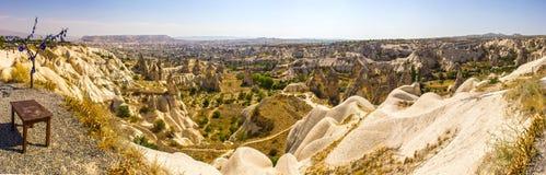 Panorama för Cappadocia grottastad fotografering för bildbyråer