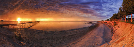 Panorama för hav SA Ceduna 01 Arkivfoto