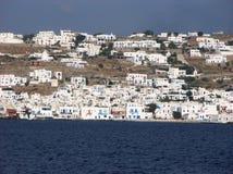 Panorama för Mykonos havssikt Royaltyfria Bilder
