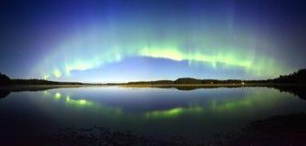 Panorama för nordliga ljus Royaltyfri Foto