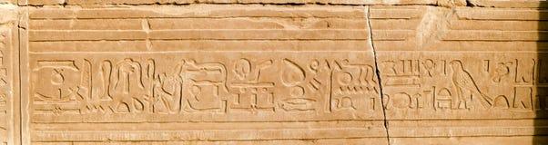 panorama för ombo för egypt hieroglyphicskom arkivbild