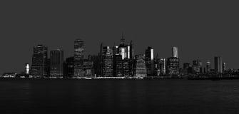 Panorama för ottaNew York City horisont Arkivbild