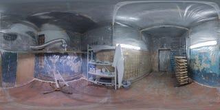 Panorama för rent rum för Undergroun färghandel sfärisk Royaltyfri Fotografi