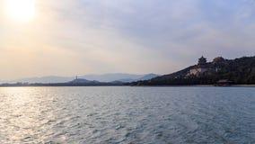 Panorama för sommarslott arkivfoto