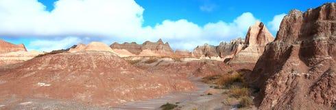 Panorama för South Dakota Badlandsridgeline royaltyfria foton