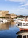 Panorama för Stockholm dagsljushorisont Royaltyfri Foto