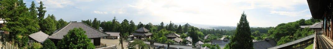 Panorama för Todaiji tempelcomplex Arkivbild
