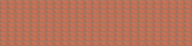 Panorama för väggbakgrundsmodell av röda tegelstenar med cementremsor Royaltyfri Bild
