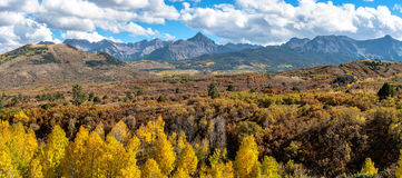Panorama of Fall Sneffels Range Royalty Free Stock Image