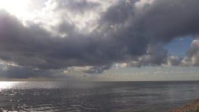 Panorama famoso 4k S.U.A. del lago di Florida del cielo soleggiato della tempesta video d archivio