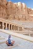 The ancient temple of Hatshepsut in Luxor, Egypt. Panorama of famous ancient temple of Hatshepsut in Luxor, Egypt Royalty Free Stock Photography