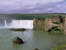 Panorama famous Godafoss Stock Photo