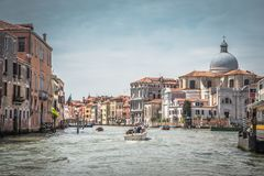 Panorama of the famous Grand Canal, Venice, Italy royalty free stock photography