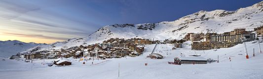 Val Thorens in France Stock Images