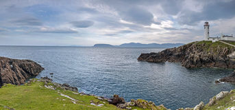 Panorama of Fanad Head, County Donegal, Ireland. Lighthouse, Fanad Head, County Donegal, Ireland Stock Photo