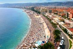 Panorama fantástico de Niza, Francia Foto de archivo libre de regalías