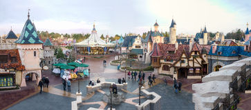 Panorama of Fantasyland, DISNEYLAND PARIS Stock Images
