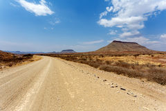 Panorama of fantrastic Namibia landscape Royalty Free Stock Photography
