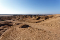 Panorama of fantrastic Namibia moonscape Stock Photo