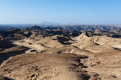 Panorama of fantrastic Namibia moonscape Royalty Free Stock Photography