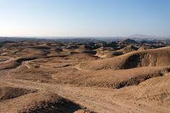 Panorama of fantrastic Namibia moonscape Royalty Free Stock Photos